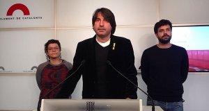 Front unitari de la CUP, JxCAT i ERC contra la repressió dels CDR