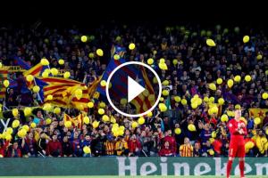 Globus grocs al Camp Nou.