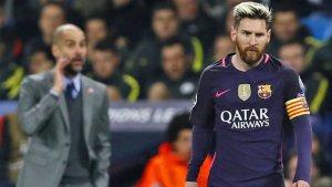 Guardiola i Leo Messi, en un partit l'any passat