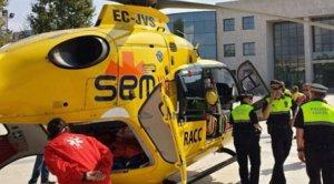 Helicòpter del SEM a Cambrils
