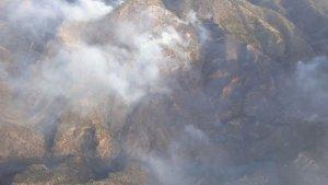 Imagen del incendio en la localidad almeriense de Felix