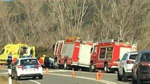 Imatge d'arxiu d'un accident a Olesa