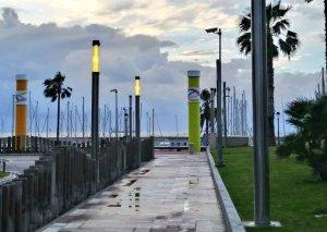 Imatge de l'entrada al passeig de l'Escullera del Port de Tarragona.