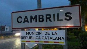 Imatge d'un dels cartells de «Municipi de la República catalana» a Cambrils.