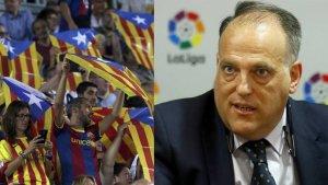 Javier Tebas, en contra dels xiulets a l'himne espanyol