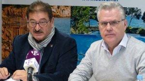 L'alcalde de Salou Pere Granados i el regidor de Gestió Econòmica Toni Brull.