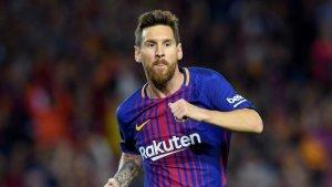 Leo Messi, celebrant un gol amb la samarreta del Barça