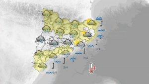 Les precipitacions arribaran a tot el país a partir d'aquesta tarda