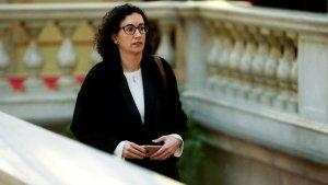 Marta Rovira, als passadissos del parlament de Catalunya