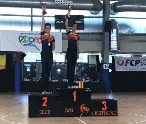 Pol López recull el seu trofeu com a campió de Catalunya