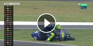 Valentino Rossi, a la gespa del GP de l'Argentina.