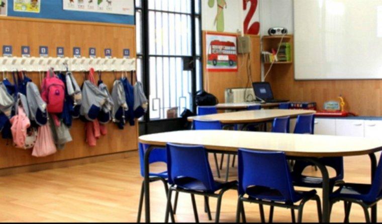 Interior d'una classe de l'escola Sant Martí