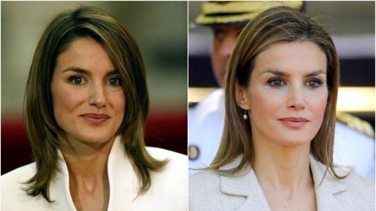 Antes y después del rostro de Letizia