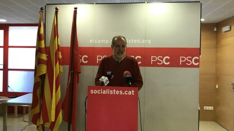 Roda de premsa del diputat del PSC per Tarragona al Congres, Joan Ruíz