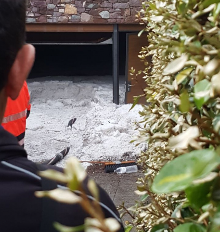 Un magatzem completament ple de pedra