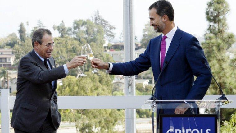 Víctor Grífols, amb el rei Felip VI