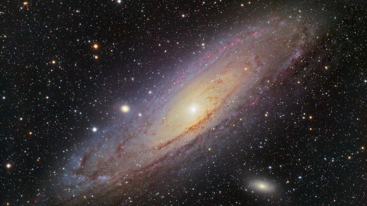 La galàxia d'Andròmeda captada des de Prades