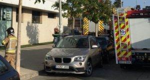 Bomberos y Policía Local de Murcia en el lugar de los hechos
