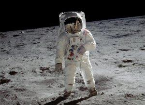 Buzz Aldrin a la lluna en la missió Apollo 11