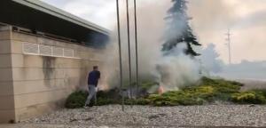 Captura del vídeo de l'incendi