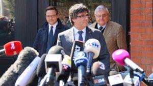 Carles Puigdemont, després de sortir de la presó