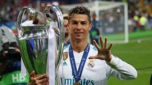Cristiano Ronaldo en la celebración de la Champions