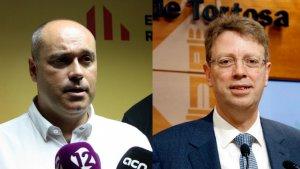 Els diputats al Congrés d'ERC i PDECat, Jordi Salvador i Ferran Bel
