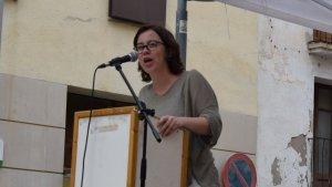 Eulàlia Reguant ha participat en l'acte 'Xarxes solidàries contra la repressió'