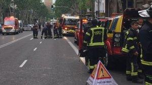Imagen de los bomberos en el lugar delos hechos