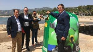 Imatge de la presentació de la nova campanya d'Ecovidrio