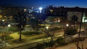 Imatge del Parc Riu Clar de Tarragona de nit