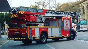 Imatge d'un dels camions dels Bombers de Barcelona.