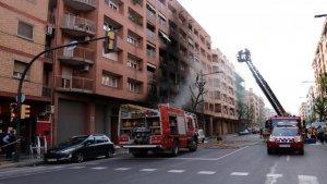 Imatge d'un incendi en un supermercat