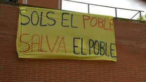 Imatge d'una pancarta