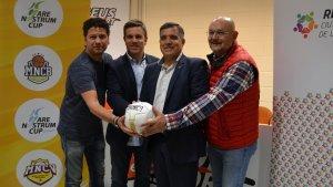Jordi Cervera (regidor d'Esports), Albert Viñas (Mare Nostrum Cup), Josep Masip (director del Torneig) i Santi Gea (seleccionador català absolut)