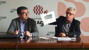 José Luis Martín, Josep Fèlix Ballesteros i Ivana Martínez, aquest migdia en roda de premsa.