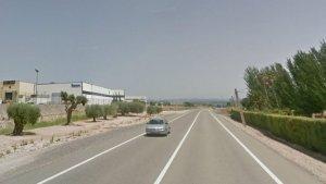 La carretera N-420, al seu pas per Móra d'Ebre.