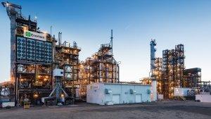 La planta de transformació de residus en biocombustibles que l'empresa Enerkem té al Canadà.