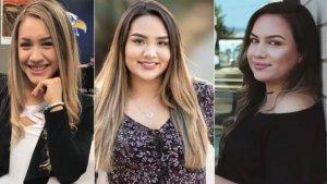 Las tres chicas fallecidas en el fatal accidente