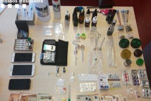 Les drogues localitzades pels Mossos d'Esquadra durant l'escorcoll