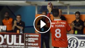 Marc Torra, acomiadant-se del Palau d'Esports