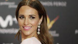 Paula Echevarría posando en la alfombra roja de los Premios Feroz 2018