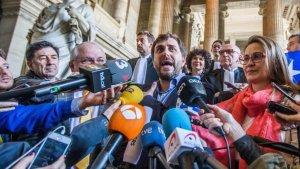 Puig, Comín i Serret, al palau de justícia belga