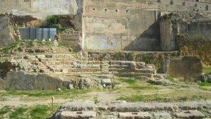 Teatro romano de Tarragona, cerca del puerto.