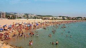 Una de les platges guardonades, la de Roda de Berà.