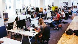 Unes oficines, en una imatge d'arxiu