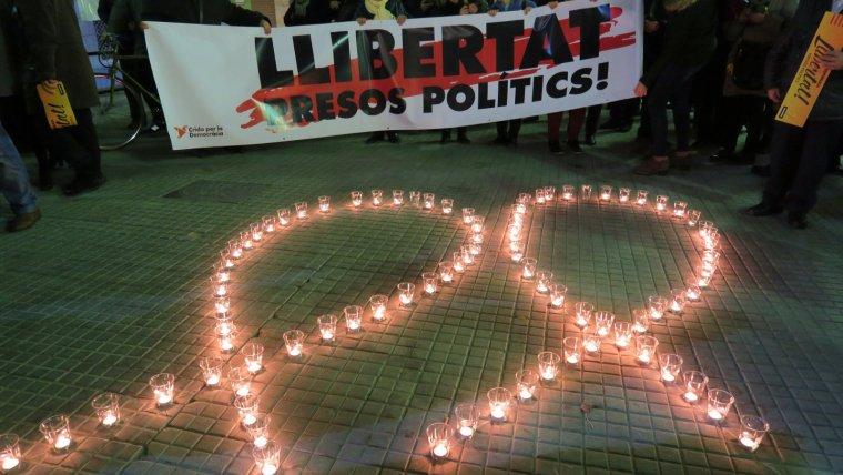 Imatge d'una de les concentracions per la llibertat dels presos al Camp de Tarragona