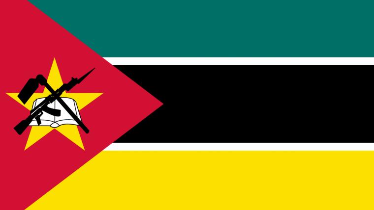 Bandera de Mozambique.
