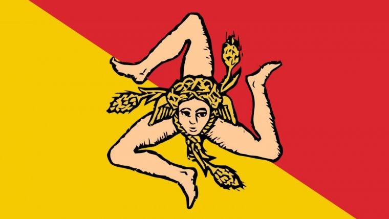 Bandera de Sicilia.