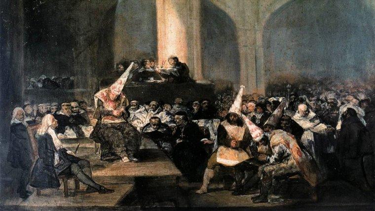 El cuadro 'Auto de fe de la Inquisición'.